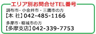 エリア別お問合せTEL番号