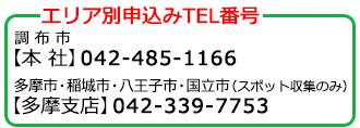 エリア別申込みTEL番号