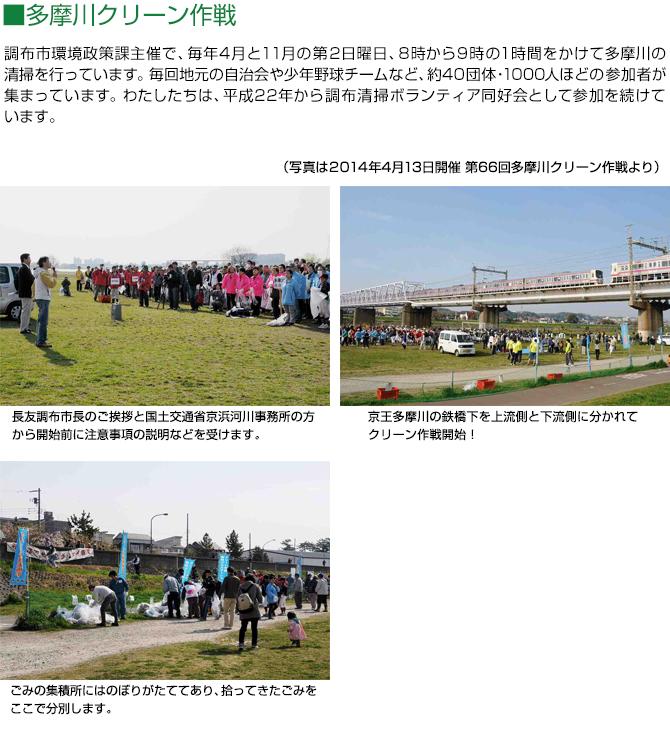 多摩川クリーン作戦