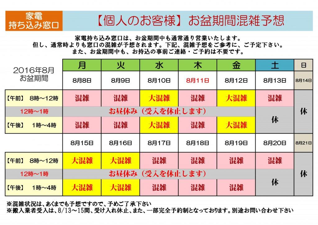 調布清掃_家電受入_お盆201608